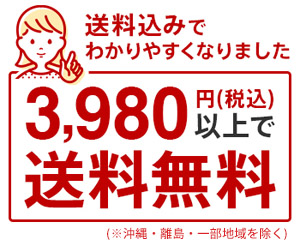 3,980円以上で送料無料