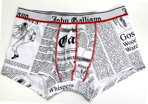 John Galliano ジョンガリアーノ/NEWSPAPER ニュースペーパー(ホワイト)