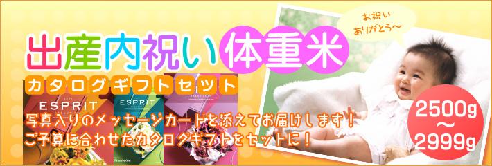 出産内祝い米 体重米 カタログギフトセット
