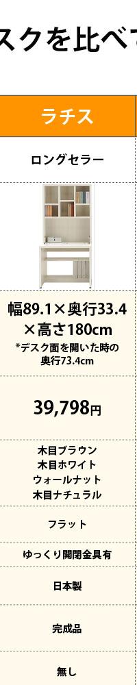 ライティングデスク 国産 日本製 完成品 省スペース ミニマリスト
