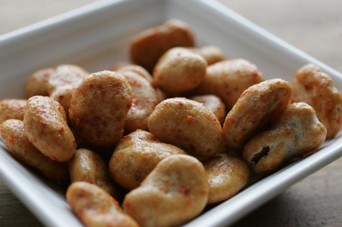 ペペロンチーノそら豆