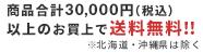 30,000円以上で送料無料
