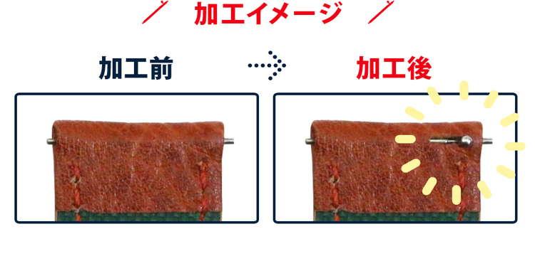 クリッカー 加工イメージ