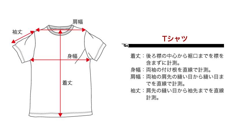 サイズの測定方法(Tシャツ)