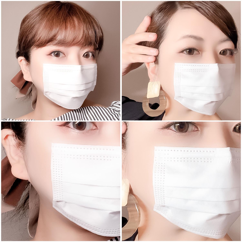 貼るマスクの着用写真