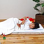 ベビー・無添加ガーゼ3点セットケット・簡単シーツ・枕カバー