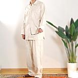 襟付き・前開きあったか3重カラーパジャマ