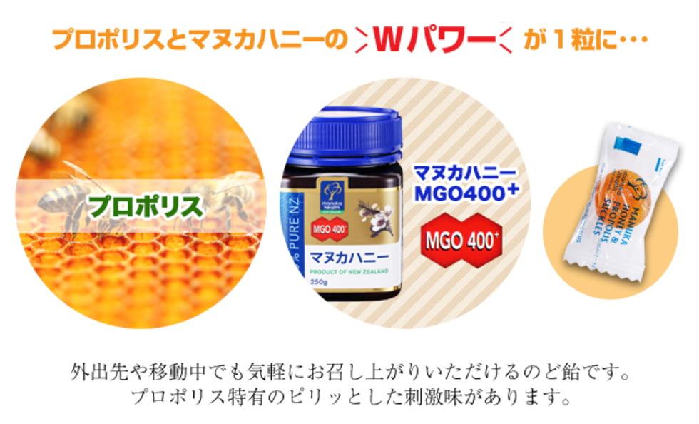 マヌカハニーMGO400+キャンディー