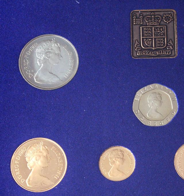 英国王立造幣局(ロイヤルミント) 1982年発行 プルーフコイン 7枚セット