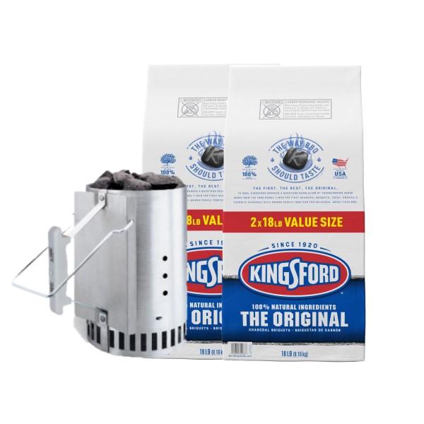 Kingsford キングスフォード WEBER ウェーバー オリジナルチャコール チムニースターターセット