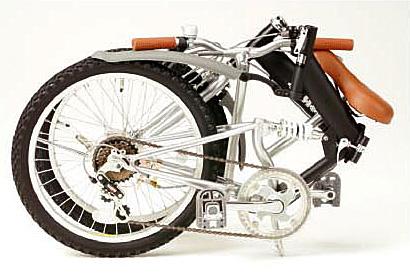 超コンパクト設計の折畳自転車