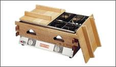 エイシン電気おでん鍋8ツ切 木枠付OD-8S