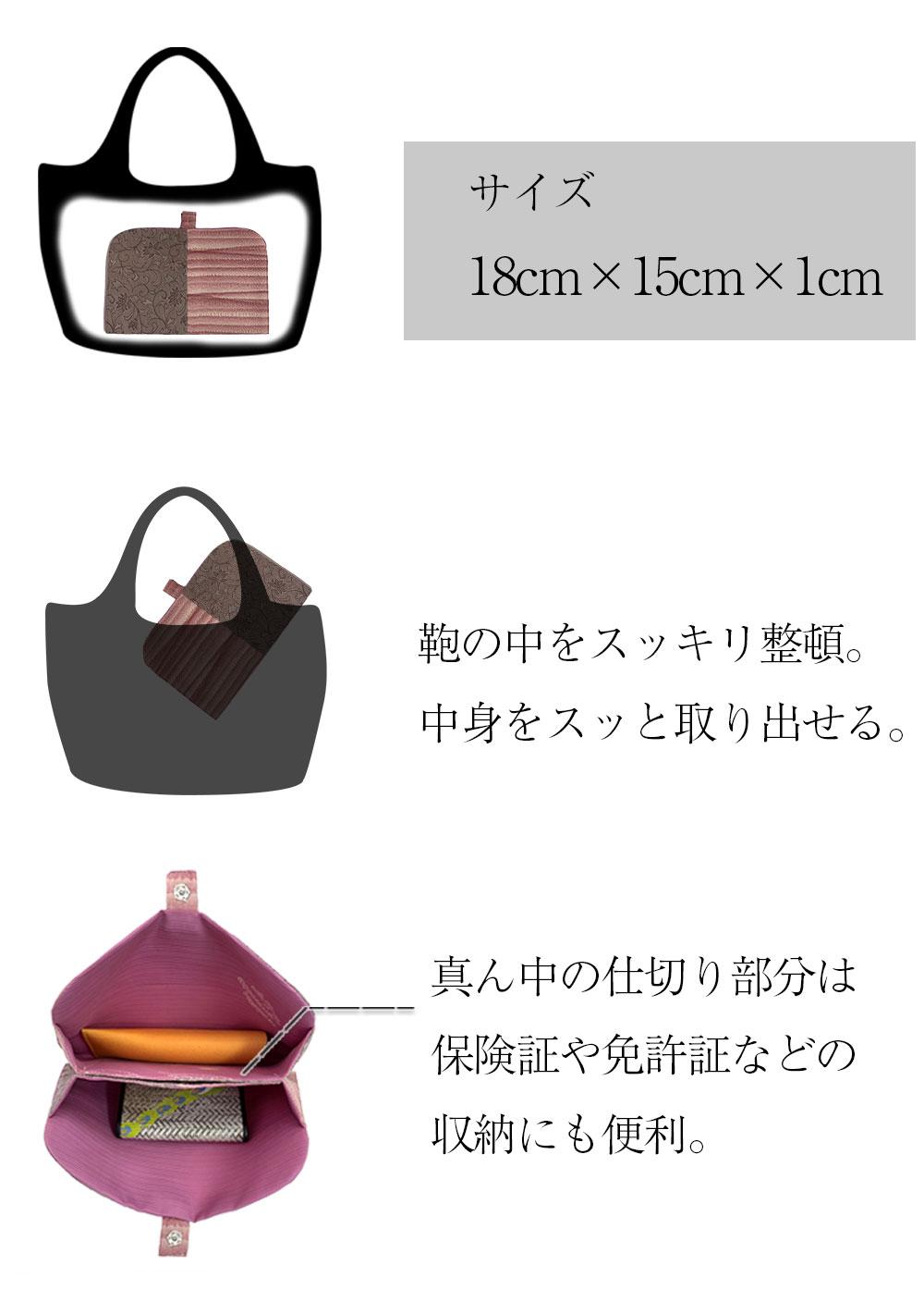 バッグインバッグ 和柄