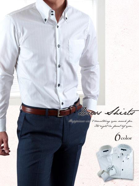 現代のビジネススタイルの成否はスリムフィットシャツが鍵を握るノーネクタイスタイルでもドレッシーに決まる上質コットンシャツ