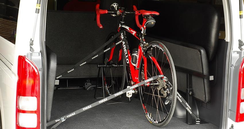 ハイエースベッドキット使用例 自転車