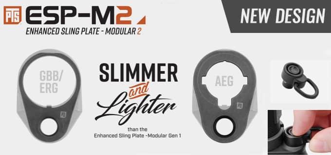 PTS製スリングプレート AEG/GBB!スイッチングが容易に可能!スチールで非常に頑丈!QD仕様でスリング脱着も楽々!