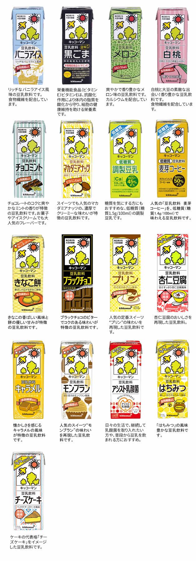 キッコーマン豆乳29種類