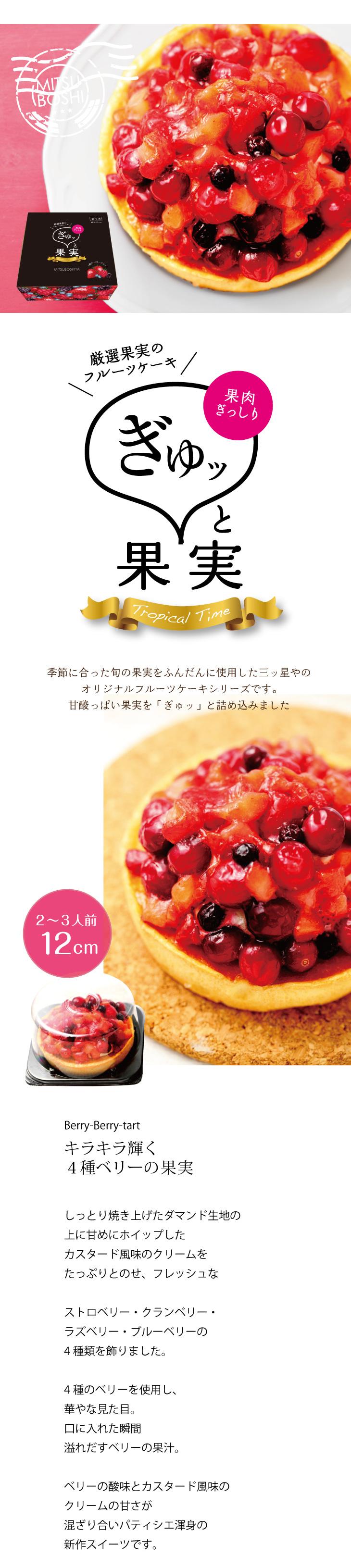 ぎゅッと果実 4種のベリータルト
