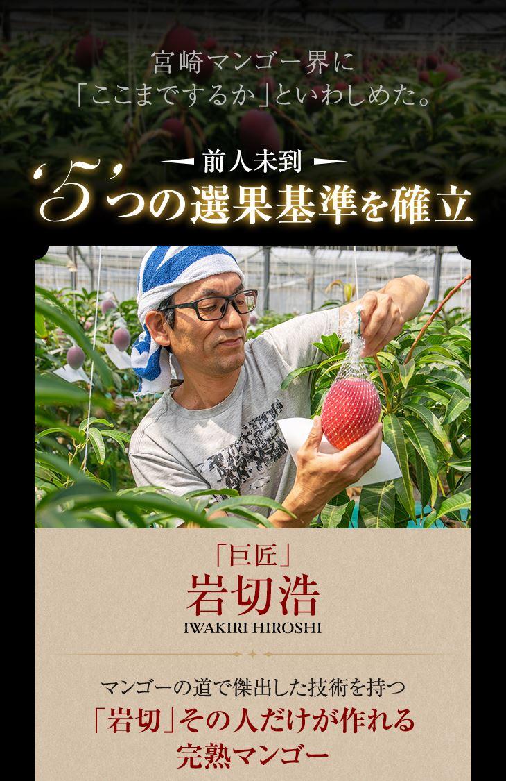 宮崎マンゴー界に「ここまでするか」といわしめた5つの選果基準を確立 巨匠 岩切浩