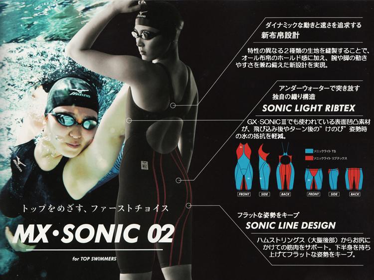 ミズノMIZUNO MX・SONIC02競泳水着