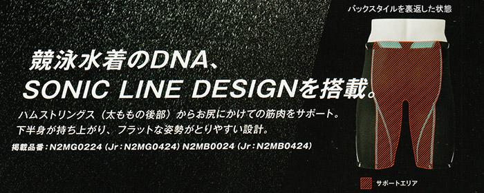 ミズノ競泳水着ソニックラインデザイン SONIC LINE DESIGN