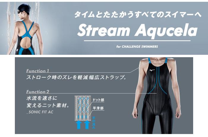 ミズノ競泳水着ストリームアクセラStreamAqucela