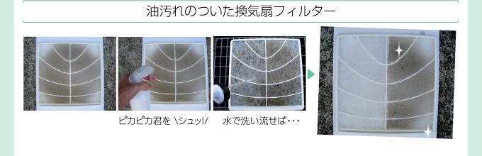 油汚れのついた換気扇フィルター