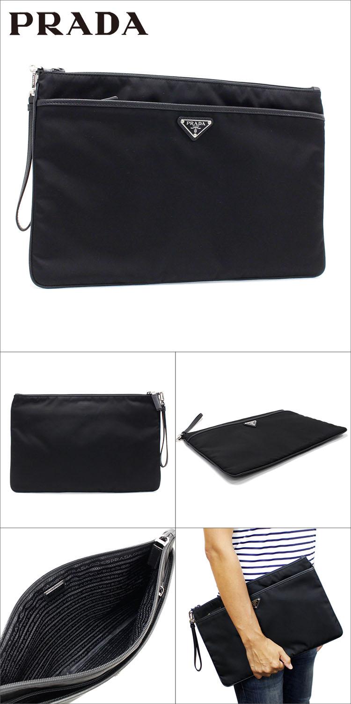 7b760906ebd3 MKcollection  Prada clutch bag men PRADA second bag nylon X leather ...