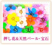 押し花&天然パール・宝石