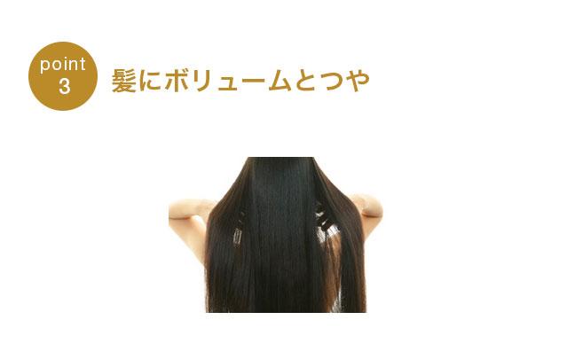 髪にボリュームとつや