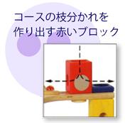 コースの枝分かれを作り出す赤いブロック