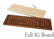 木でできたキーボード
