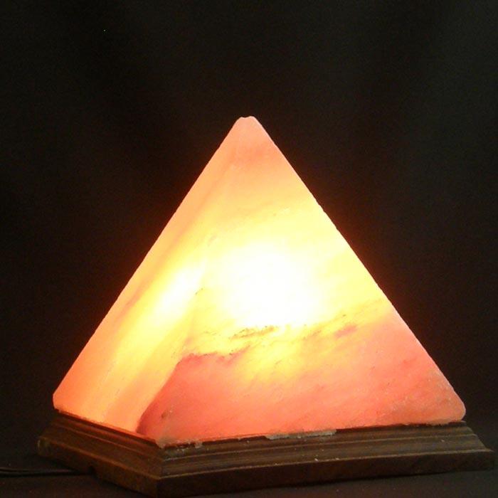業界最安値水準の激安岩塩ランプ!:★激安!ピンク ピラミッド型ソルトランプ【サイズ:L】