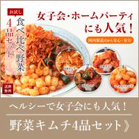 キムチお試し野菜4品セット