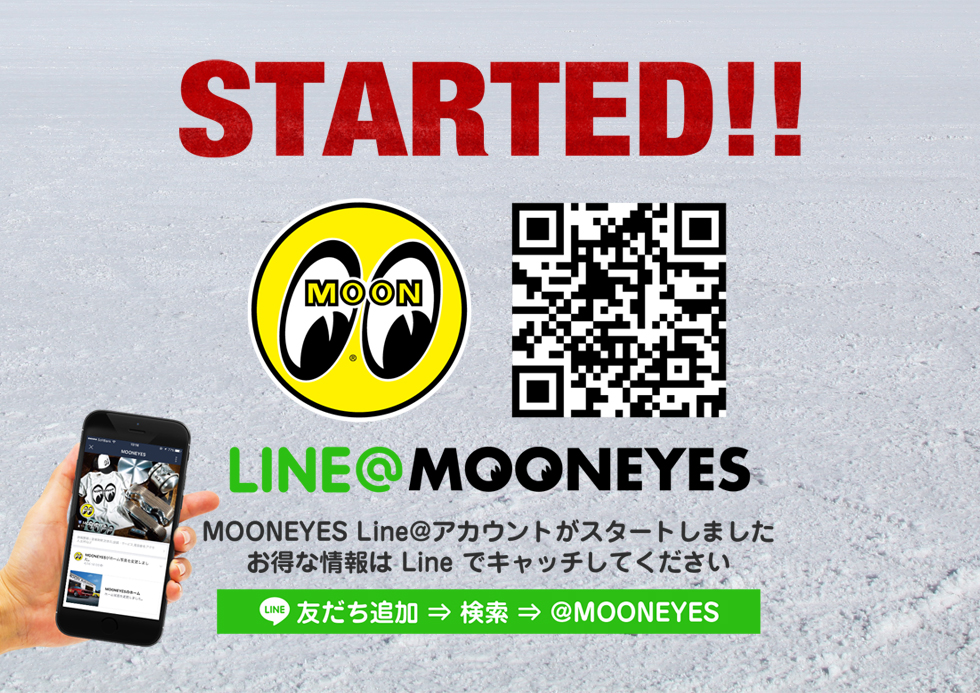 MOONEYES Line@アカウントがスタート