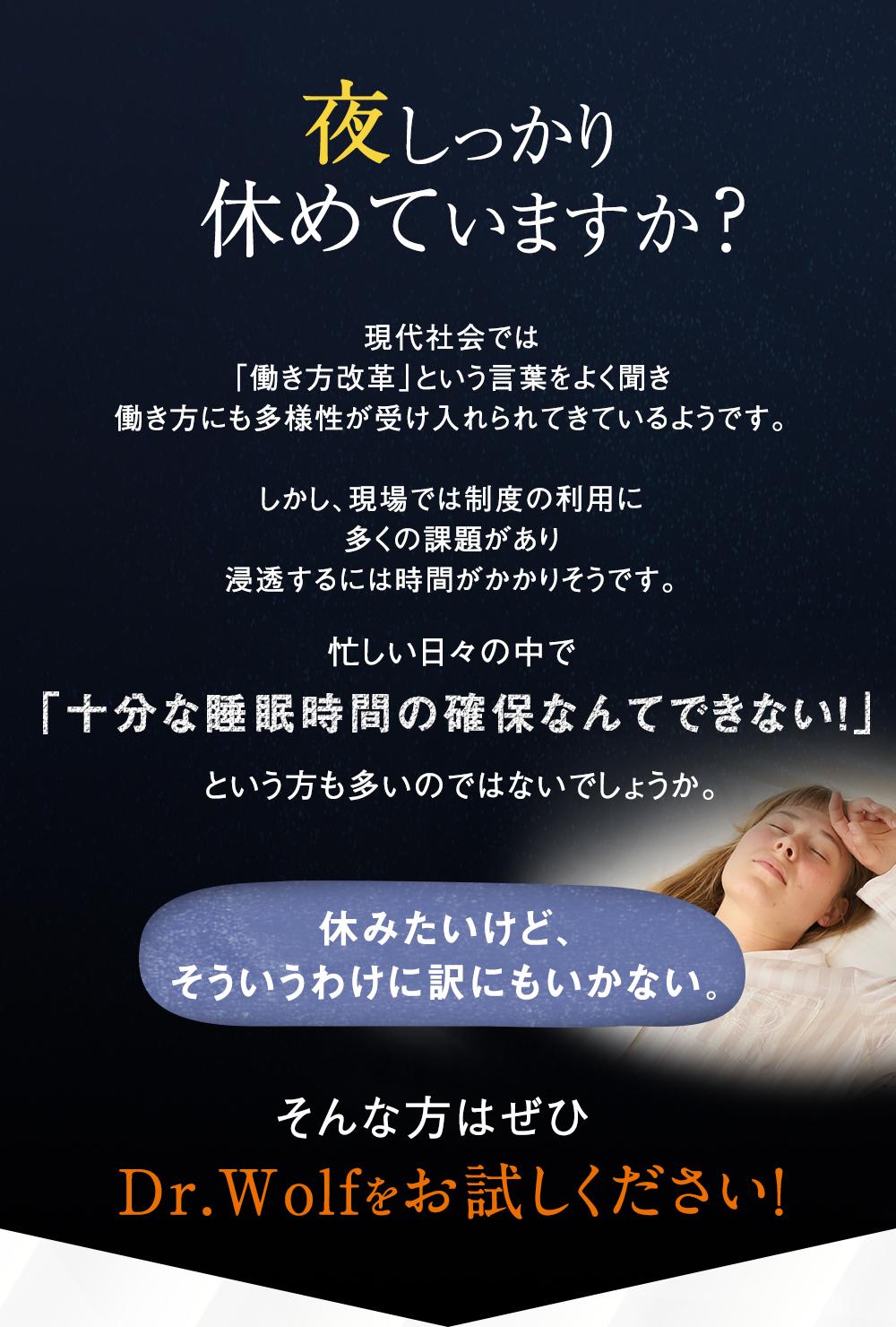 見た目は普通、でも中身はすごい!低反発安眠サポート枕。Dr.Wolf