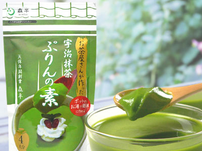Bare 80 g bag of the powdered green tea pudding