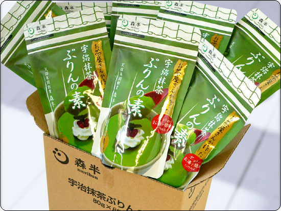 *8 case of Uji powdered green tea ぷりんの bare 80 g bag sale