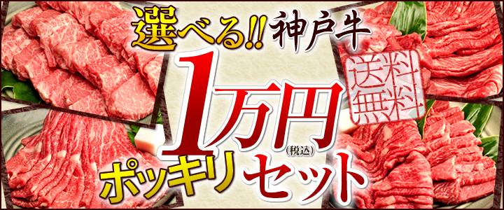 選べる!神戸牛1万円ポッキリセット