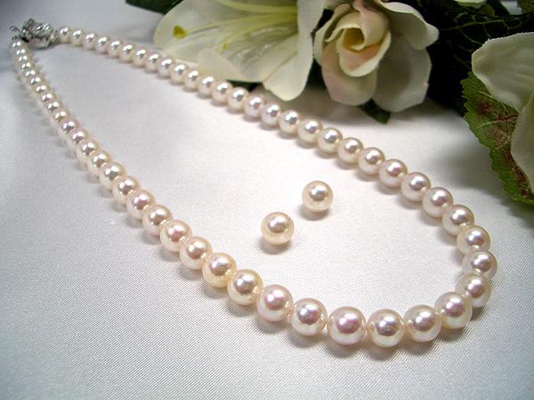 あこや真珠ネックレスセット7.0〜7.5mm