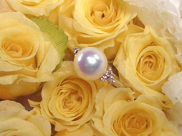 アコヤ真珠指輪