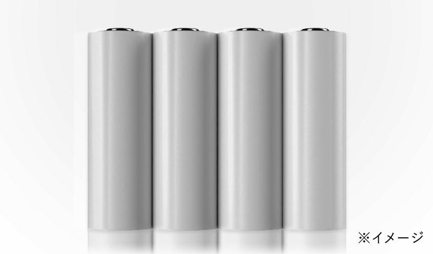 ご購入後、すぐにお使いいただけます。単3アルカリ乾電池を4本付属