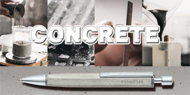 表情豊でクールな素材を楽しむボールペン ステッドラー「コンクリート」!