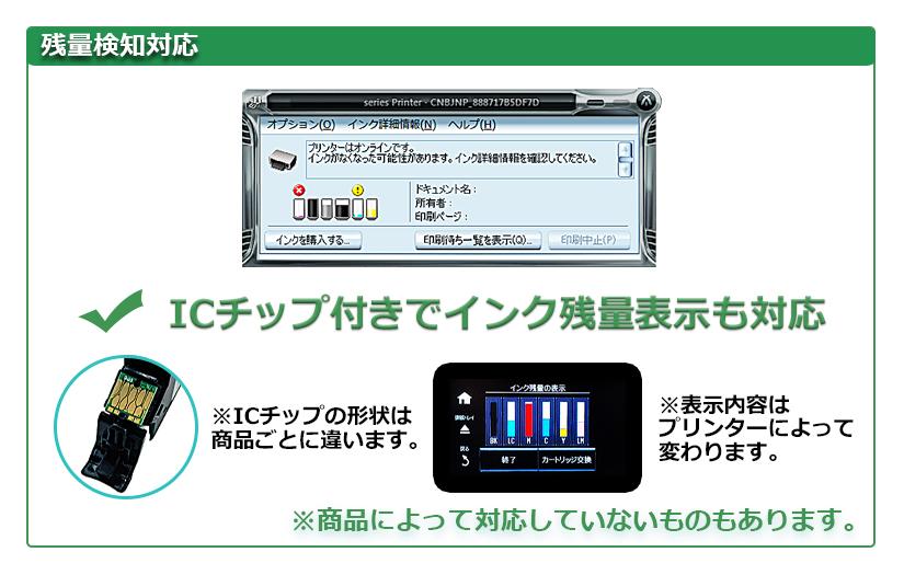 ICチップで残量表示対応