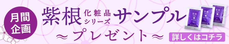 紫根ミニサンプルプレゼント