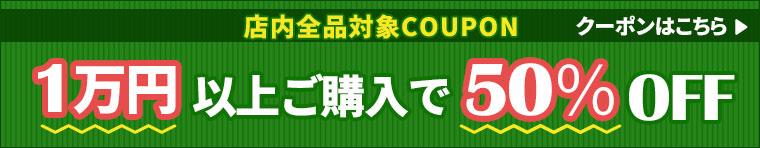 毎月20日クーポンDAY★1万円以上購入で50%オフ!!