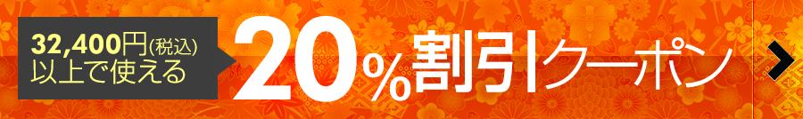 20%割引クーポン