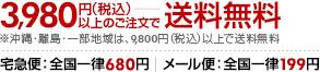 3,980円(税込)以上のご注文で送料無料