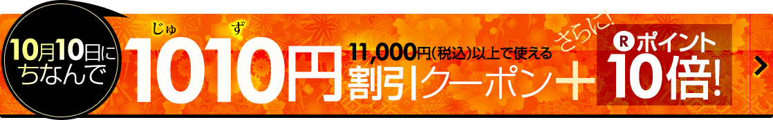 1,010円割引クーポン+P10倍