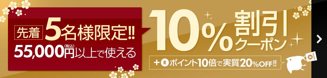 先着5名様限定!10%割引クーポン!!+P10で実質20%OFF※55,000円以上
